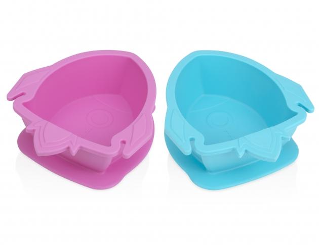 矽膠餐碗/火箭(粉/藍) 1